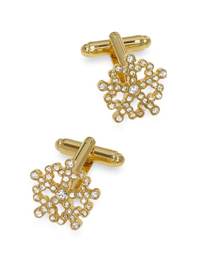 Crystal Snowflake Cufflinks