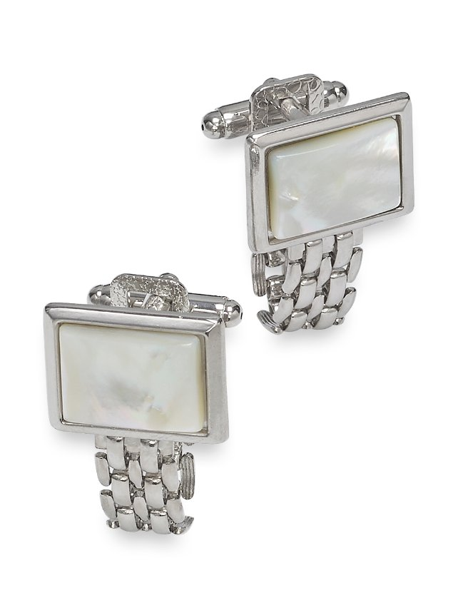 Mother-Of-Pearl Chain Wrap Cufflinks