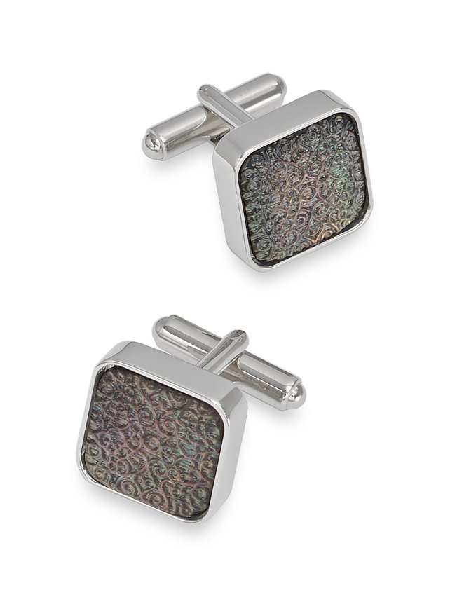 Mother-Of-Pearl Embossed Cufflink