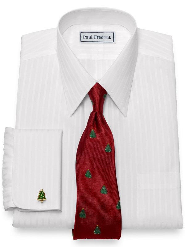 Swarovski Crystal & Enamel Christmas Tree Cufflinks