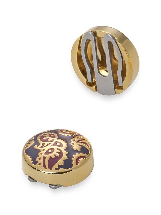 Enamel Paisley Button Cover