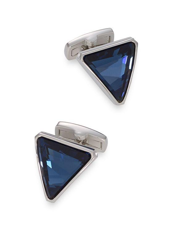 Swarovski Crystal Triangle Cufflinks