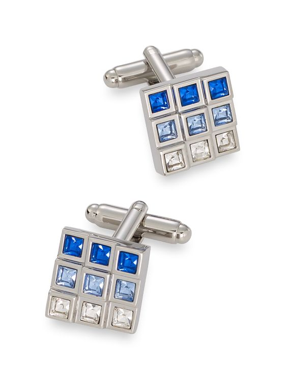 Swarovski Crystal Square Cufflinks