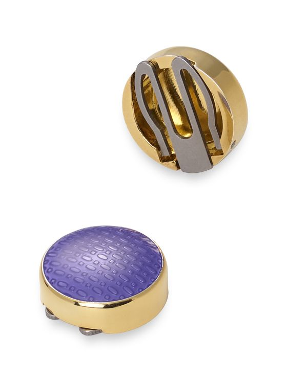 Textured Enamel Button Cover