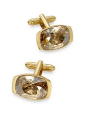 Swarovski Crystal Oval Cufflinks