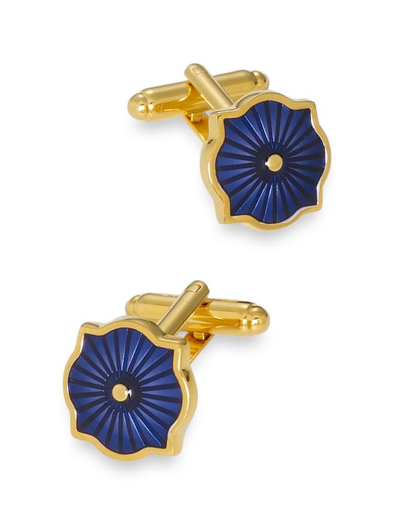 Enamel Medallion Cufflinks