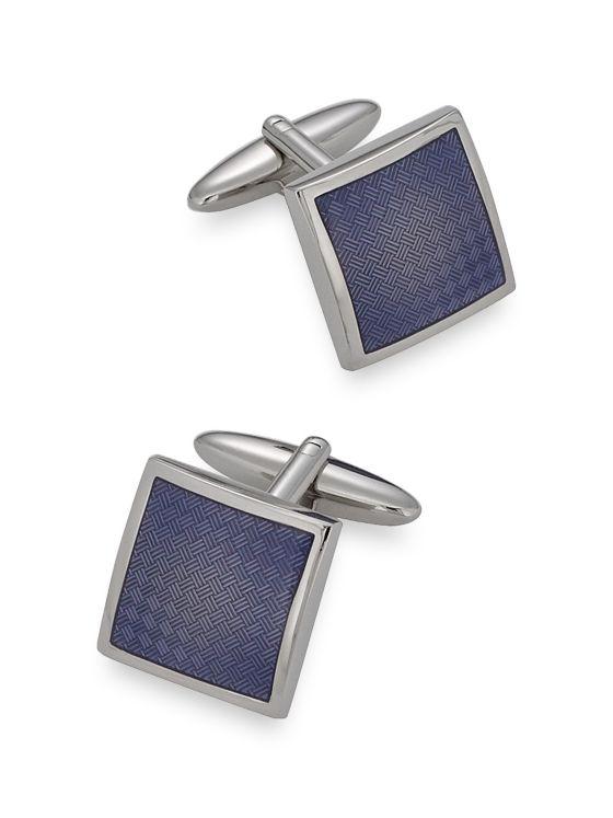 Textured Enamel Square Cufflinks