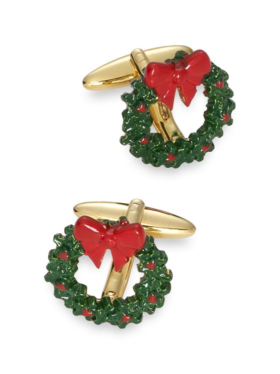 Enamel Wreath Cufflinks