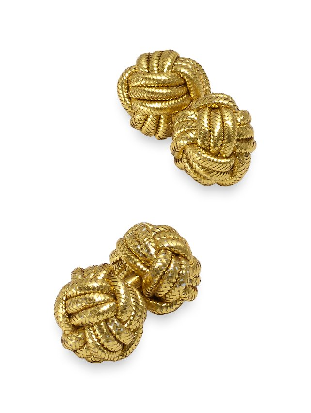 Metallic Knot Cufflinks