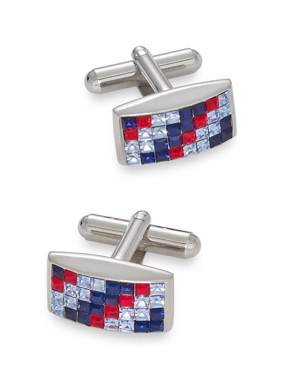 Swarovski Crystal Rectangle Cufflinks