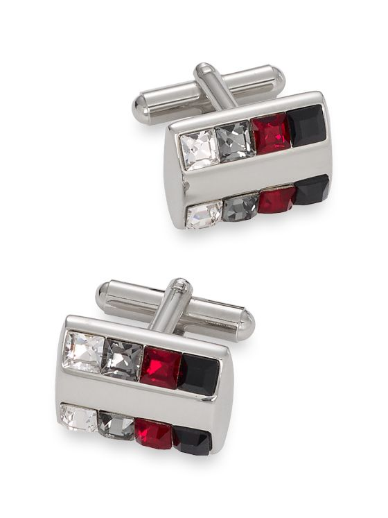 Swarovski Crystal Rectangle Cufflinks