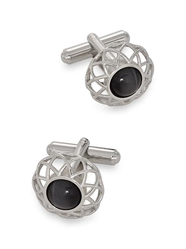 Cat's Eye Medallion Cufflinks