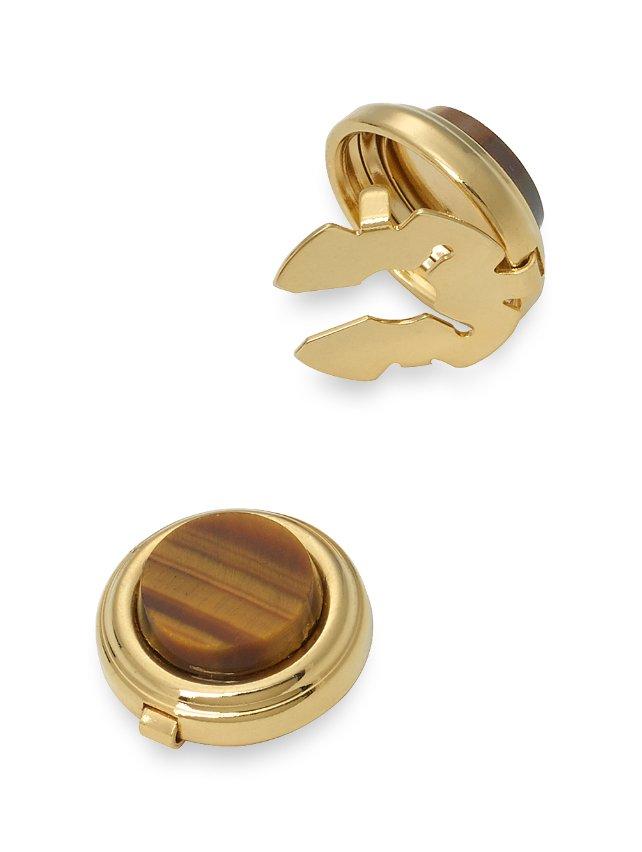 Tiger's Eye Circle Button Cover