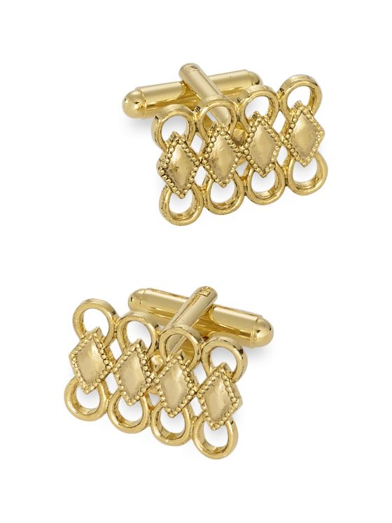 Stacked Diamonds Metal Cufflinks