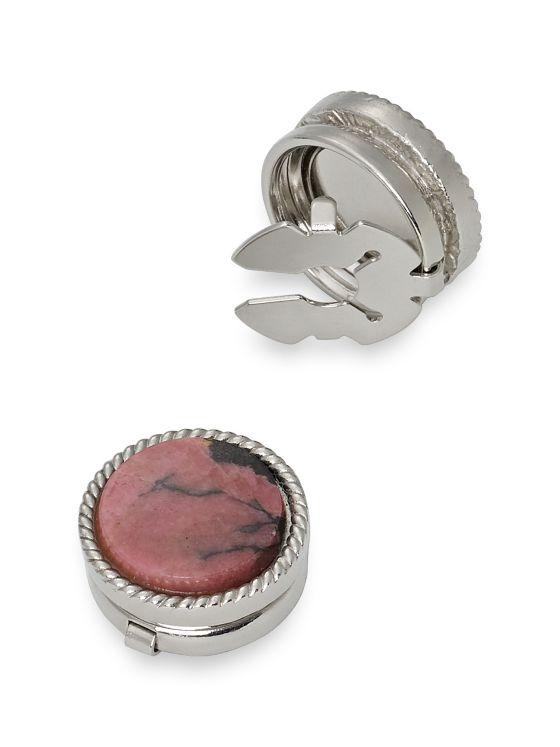 Rhodonite Stone Button Cover