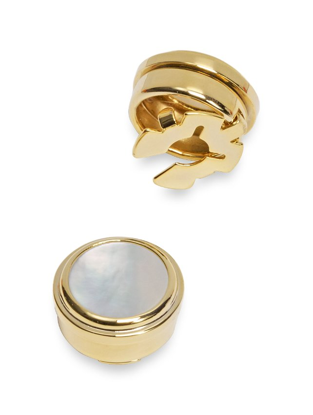 Mother-Of-Pearl Circle Button Covers