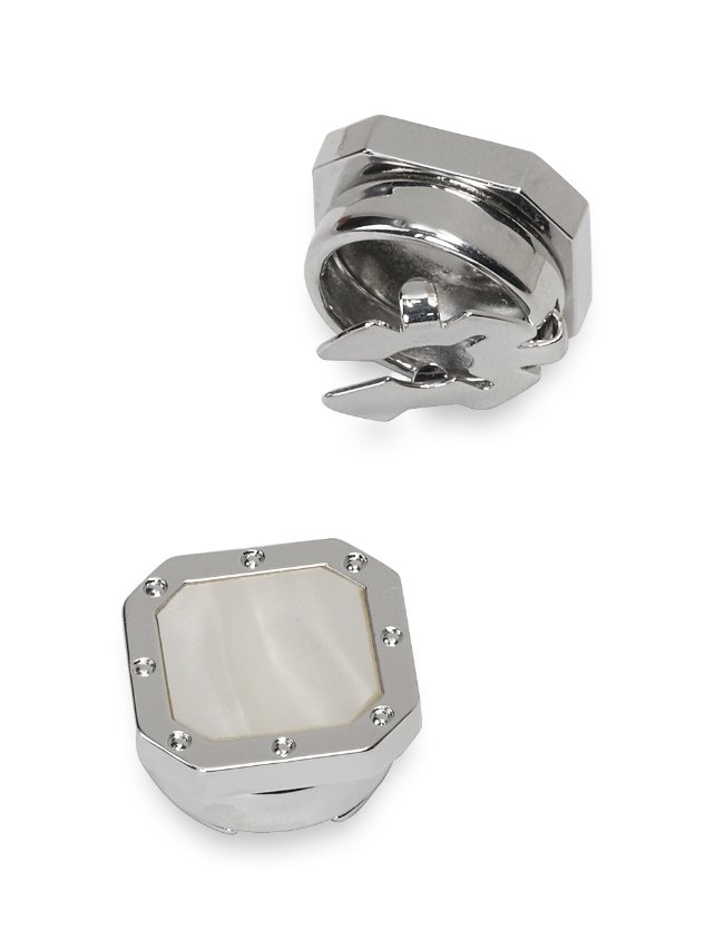 Mother-Of-Pearl Octagon Button Covers