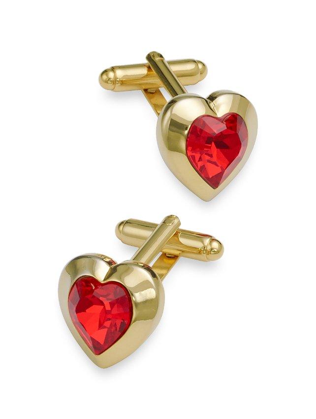 Swarovski Crystal Heart Cufflinks