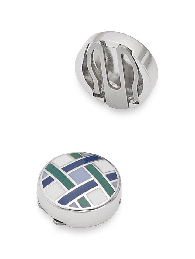 Enamel Basketweave Button Covers