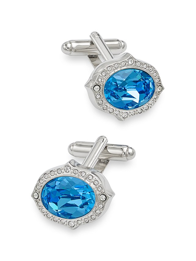 Swarovski Crystal Medallion Cufflinks