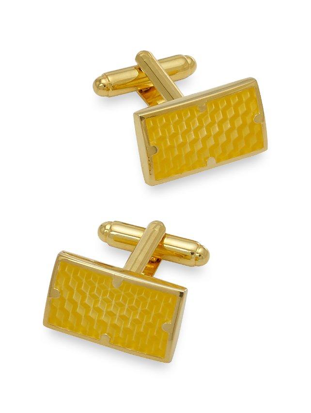 Textured Enamel Rectangle Cufflinks