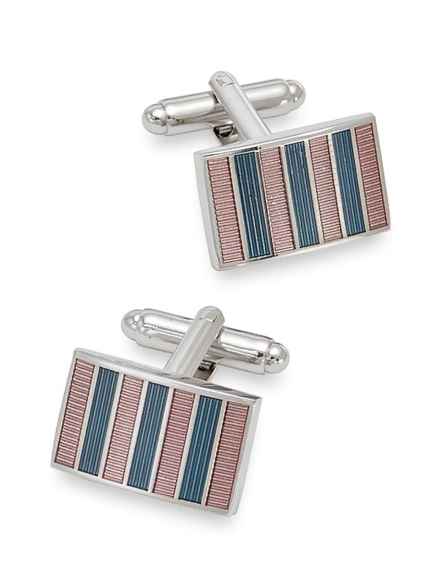 Enamel Stripe Rectangle Cufflinks