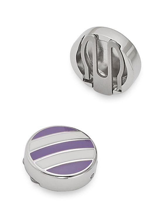 Enamel Stripe Button Covers