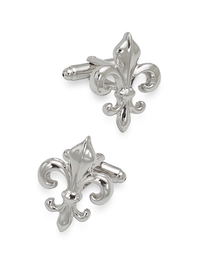 Metal Fleur De Lis Cufflinks