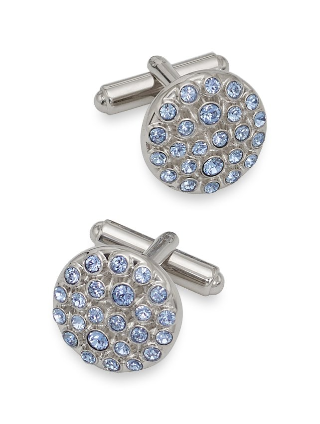 Swarovski Crystal Circle Cufflinks