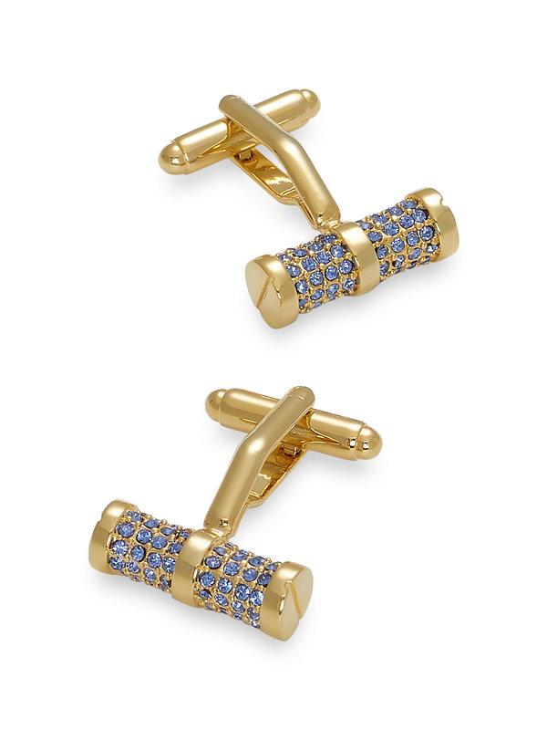 Swarovski Crystal Studded Bar Cufflinks
