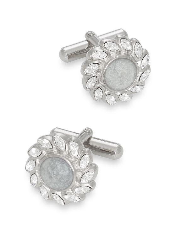 Swarovski Crystal & Enamel Round Cufflinks