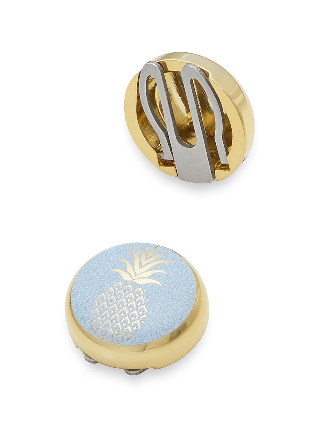 Enamel Pineapple Button Covers