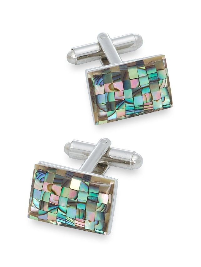 Mother-Of-Pearl Mosaic Cufflinks
