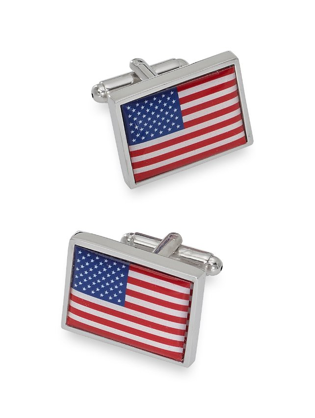 Enamel American Flag Cufflinks