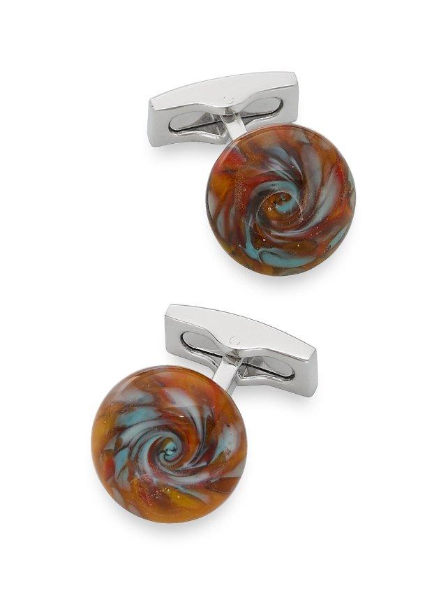 Venetian Inspired Glass Cufflinks