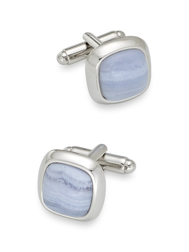 Semi-precious Jade Stone Cufflinks
