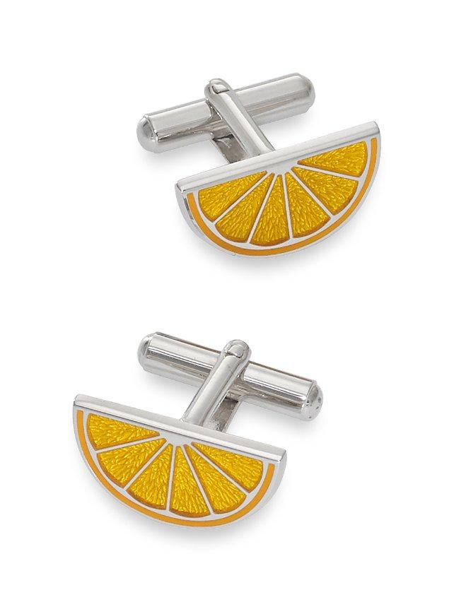 Enamel Lemon Cufflinks