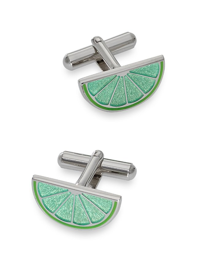 Enamel Lime Cufflinks