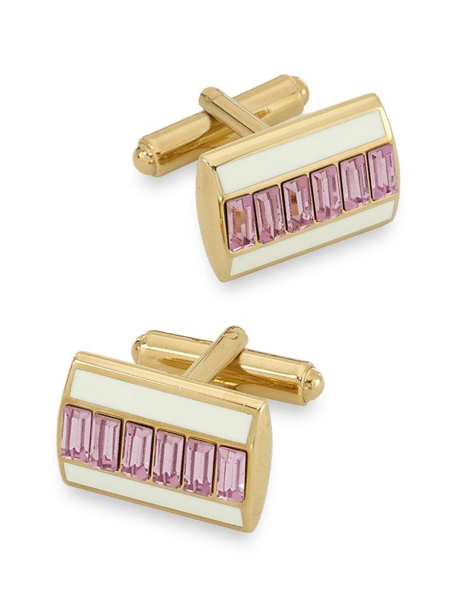Swarovski Crystal & Enamel Cufflinks