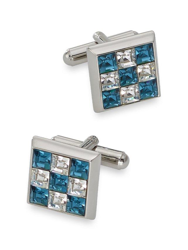 Swarovski Crystal Mosaic Square Cufflinks