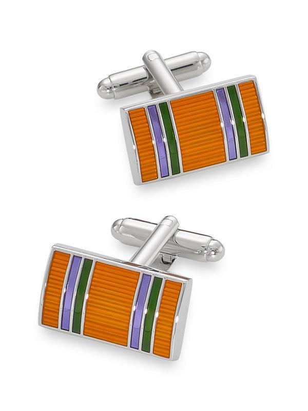 Enamel Striped Cufflink