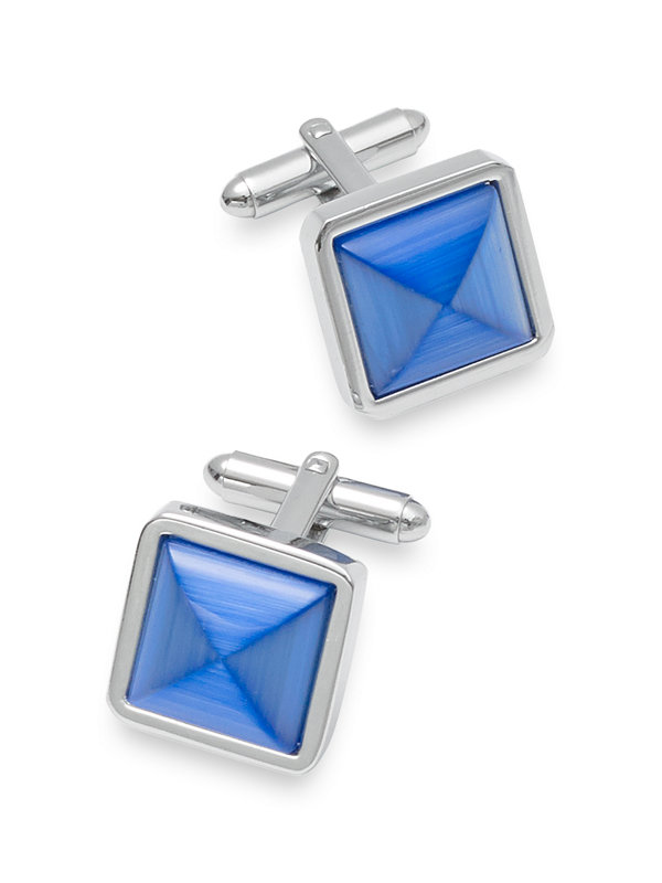 Cat's Eye Pointed Square Cufflink