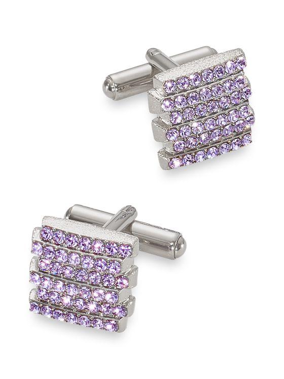 Swarovski Stacked Crystal Cufflink
