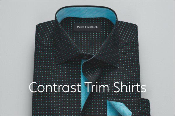 Contrast Trim Shirts
