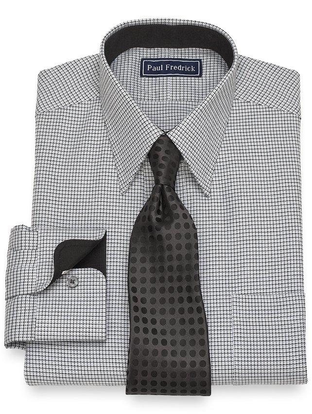 Slim Fit Cotton Chevron Dress Shirt