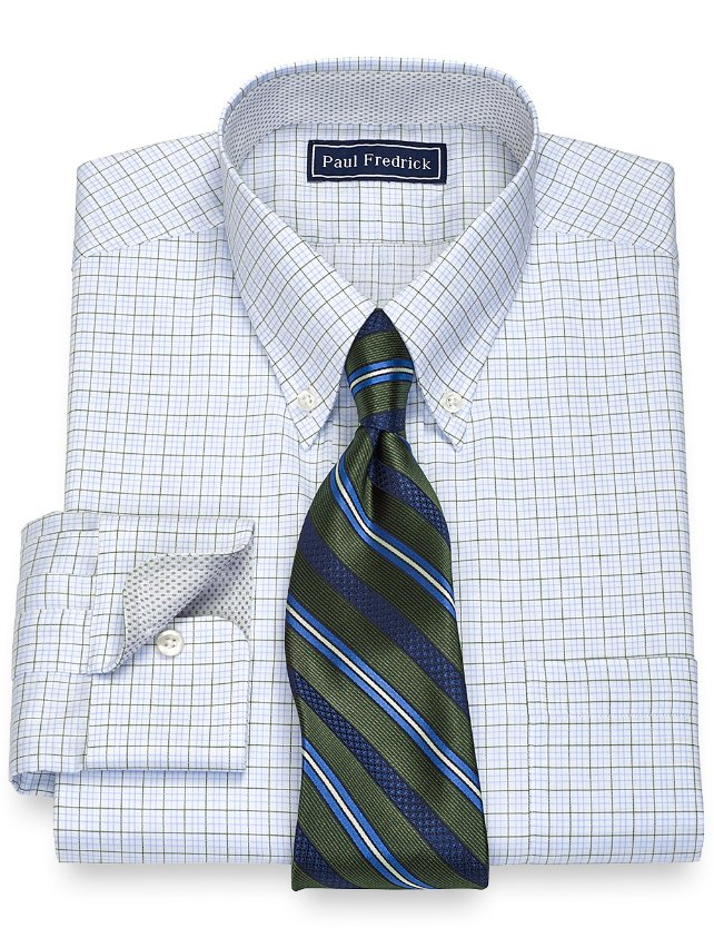 Cotton Tattersall Dress Shirt