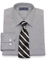 Slim Fit Cotton Mini Check Dress Shirt