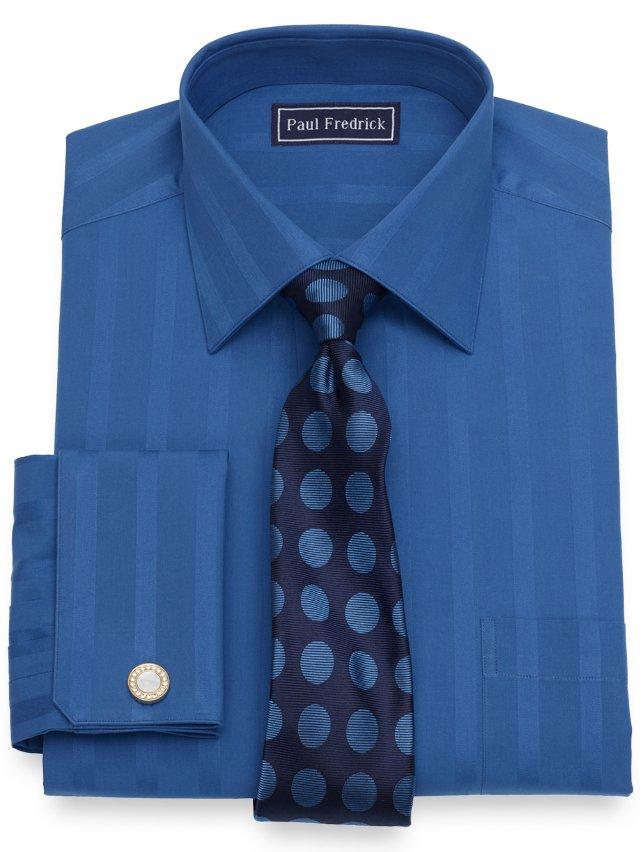 Slim Fit Cotton Bold Stripe Dress Shirt