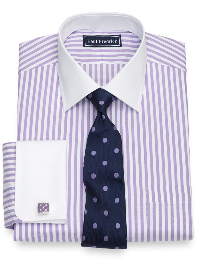 Slim Fit Cotton Bengal Stripe Dress Shirt