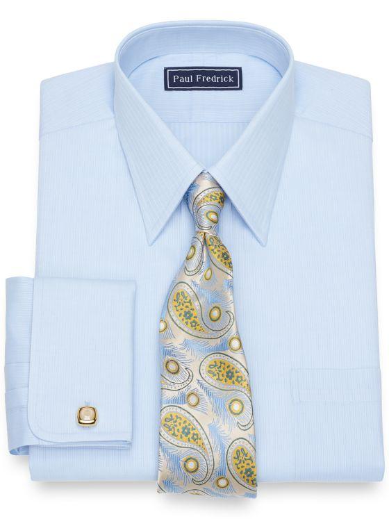 Cotton Tonal Stripe Dress Shirt